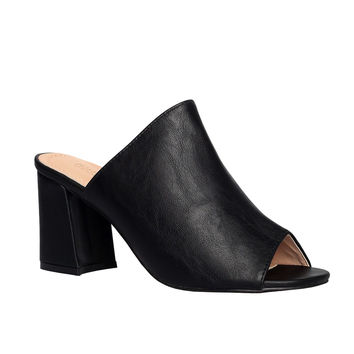 Cleo Vegan Leather Mules
