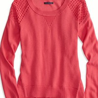 AEO Women's Softest Crew Neck Sweater (Rose)