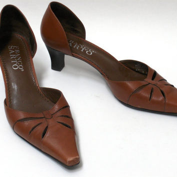 Vintage Franco Sarto womens heels size 7.5M Brown