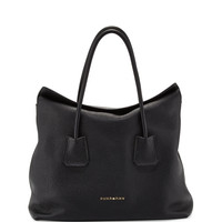 Grained Top-Handle Tote Bag, Black - Burberry
