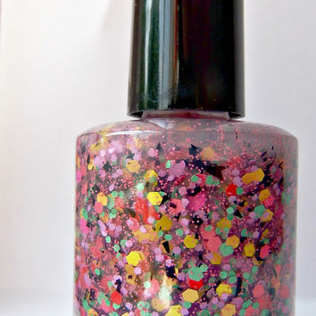 Everything but the kitchen sink - Handmade Nail Polish  - mini bottle - polish - glitter - lacquer - top coat