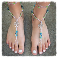 Handmade Tribal Tree of Life Barefoot Sandals