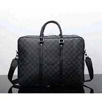 LV Women Men Office Bag Leather Satchel Shoulder Bag Crossbody I-LLBPFSH