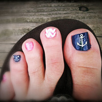 Anchor Toe Nail Vinyl Decal
