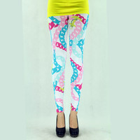 Women White Microfiber Leggings