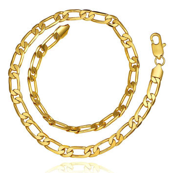 Gold Plated Petite Band Chain Necklace