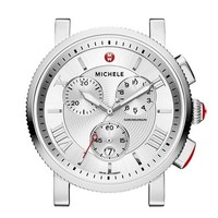 Women's MICHELE 'Sport Sail - Large' Black Dial Watch Case, 42mm