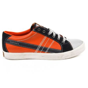Orange 43 EUR - 10 US Diesel mens sneakers D-STRING LOW Y01107 P0501 H5613