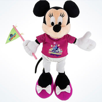 "Disney Parks 45th Anniversary Magic Kingdom 9"" Minnie Mouse Plush New with Tags"