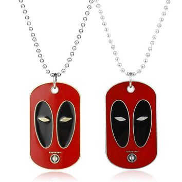 Deadpool Dead pool Taco dongsheng Comic Anime Jewelry  Necklace Dead Dog Tag Letter  Pendant Necklace Chain Trendy Neck lace Collier AT_70_6
