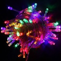 Multi-Color Colorful Linkable Led String Lights For Holiday Christmas Party Decoration (10M, 100LED)