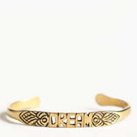 Dream Word Cuff By Jen's Pirate Booty - $48.00: ThreadSence, Women's Indie & Bohemian Clothing, Dresses, & Accessories