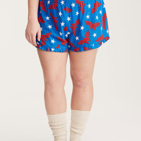 Wonder Woman Print Sleep Shorts