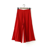 Summer Women's Fashion High Rise Pleated Pants [4920285700]
