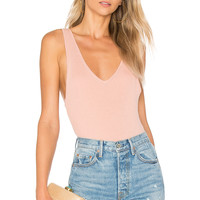 ale by alessandra Marisol Bodysuit in Rose Linen