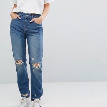 Superdry Boyfriend Jean with Rips at asos.com