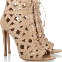 Alaïa | Studded cutout leather sandals | NET-A-PORTER.COM