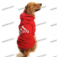 New Red Dog Addidog Sports Clothes Big Hoodie Jumper Coat Size XL Chest 39.4Inch