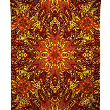 Forest Fire Psychedelic Tapestry