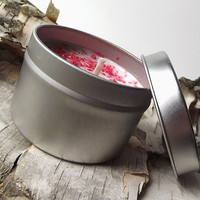 Soy Candles - Vanilla Sweetness scented Soy Candle -- 4 ounce Tin