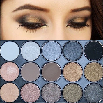 11 Colors Shimmer 4 Colors Matte Eye shadow Palette Earth Tone Eyeshadow [8833981004]