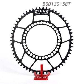 Stone Road Bike CX Cyclocross Oval Chainring BCD 130mm 5 Arms For Folding Bike Chainwheel bcd130 Chain Ring 9-11 Speed