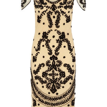 Florence Flapper Dress in Nude Blush