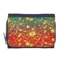 Golden Stars and Circles on A Gradient Background Wallets