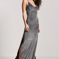Metallic Knit Maxi Dress