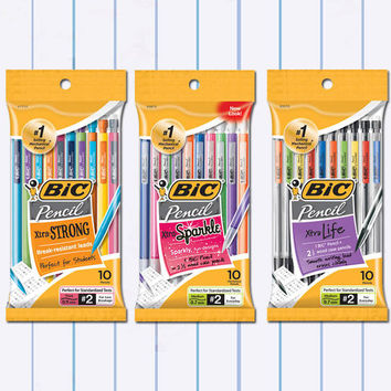 BIC® Mechanical Pencils, Xtra Strong, 0.9 mm, Assorted Barrels, Pack Of 24 Item # 292475