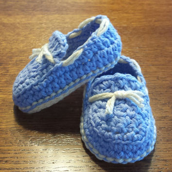 Crochet Baby Boy Loafers / Sperry's Inspired Slippers