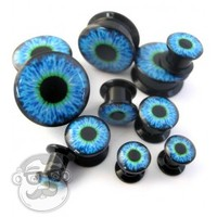 "Blue Eyeball Plugs (8 Gauge - 3/4"") 