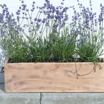 Personalized Rustic Wood Box/Planter For Wedding Date, Great Wedding Gift and Wedding Decor Centerpiece