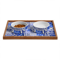 Aimee St Hill Blue Is Just A Mood Pet Bowl and Tray