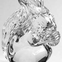 Waterford Crystal Squirrel Figurine / Sculpture, Collectible
