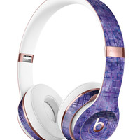 Indigo Watercolor Cross Hatch Full-Body Skin Kit for the Beats by Dre Solo 3 Wireless Headphones