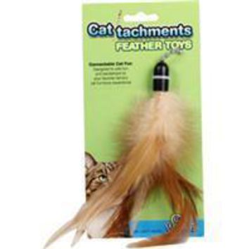 Ware Mfg. Inc.  Dog/cat - Cattachment Feather Cat Toy