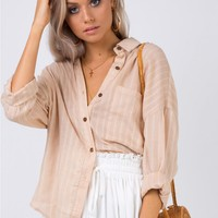 Summer Sandbar Top Beige