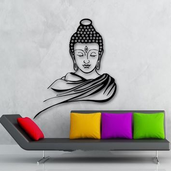 Classic Buddha Meditation Wall Decal Removable Art Home Decor