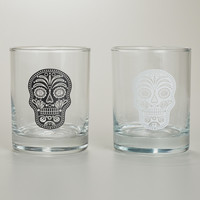 Muertos Double Old Fashioned Glasses, Set of 2 - World Market