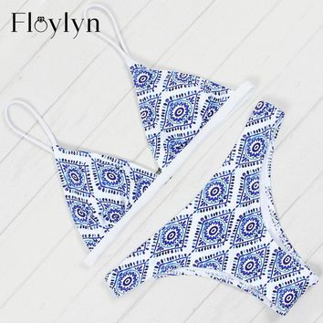 Floylyn 2017 Sexy Triangle Bikini Set Women Push Up Swimwear Brazilian Bikinis Summer Beach Wear Swimsuit Biquine Biquini Female