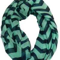 Cambridge Select Chevron Scarf Zig Zag Infinity Colorful Soft Spring Shawl Wrap,One Size,Navy/Mint Zig Zag