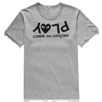 PLAY Tide brand classic letter print short-sleeved T-shirt Grey