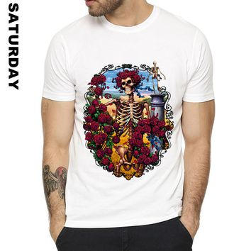 Grateful Dead Steampunk Band Design Funny T Shirt for Men and Women,Unisex Breathable Graphic Premium T-Shirt Men's Streewear
