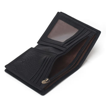 Men Leather Casual Zippers Bags Design Wallet [9026222851]