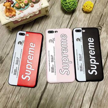 Supreme metro card ticket luxury new Color TPU matte shockproof Cover case for Iphone 7