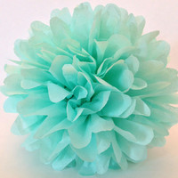 18 inch large Cool Mint pom,party poms,birthday pompoms,first birthday,baby shower,hanging poms,nursery pom poms,pompoms,party decorations