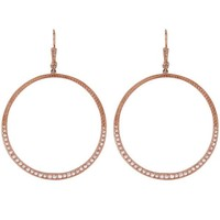 Rose Gold Large Diamond Hook Hoop Earrings