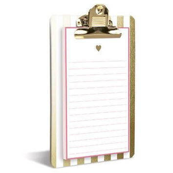 Heart of Gold Clipboard & Notepad