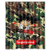 Son Goku Bape Camo High Quality Shower Curtain Size 60x72 Inch